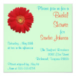 Red Daisy Bridal Shower Invite
