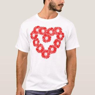 Red Daisy Chain Heart T-Shirt