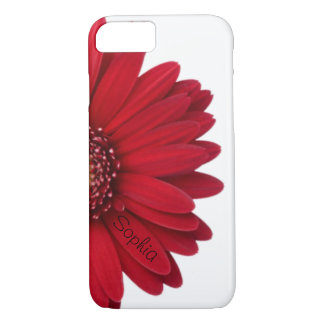Red Daisy Custom Name iPhone 8/7 Case