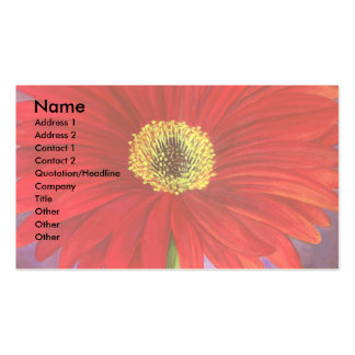 Red Daisy Flower Painting - Multi Double-Sided Standard Business Cards (Pack Of 100)