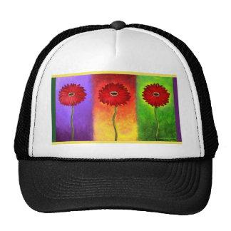 Red Daisy Flower Painting - Multi Trucker Hat