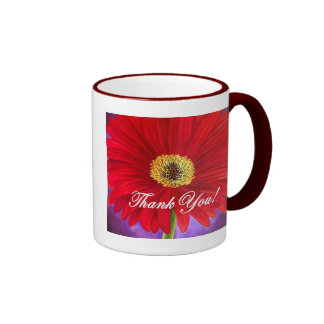 Red Daisy Flower Painting - Multi Mugs