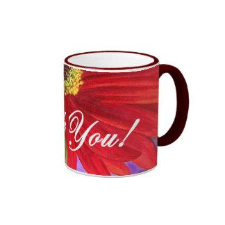 Red Daisy Flower Painting - Multi Coffee Mugs