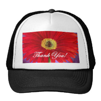 Red Daisy Flower Painting - Multi Trucker Hats