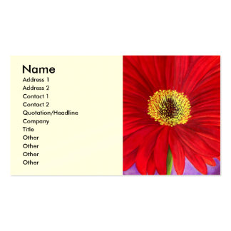 Red Daisy Gerber Flower Painting Art - Multi Pack Of Standard Business Cards