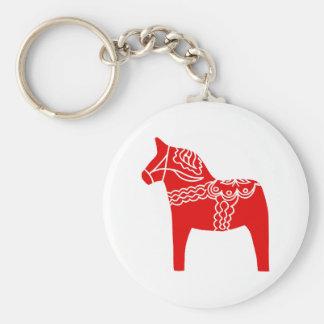 Red Dala Horse Key Ring