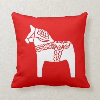 Red Dala Horse Pillow