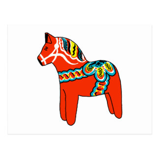 Red Dala Horse Postcard