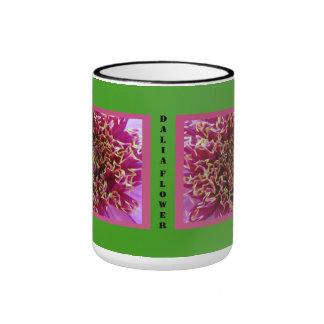 Red Dalia Flower Coffee Mug