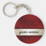Red damask and ribbon
