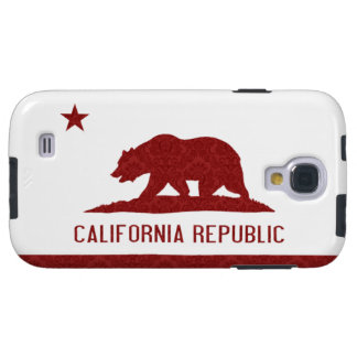 Red Damask California Flag Galaxy S4 Case