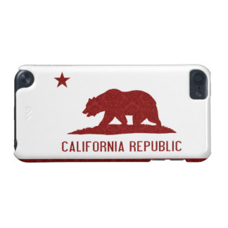 Red Damask California Flag iPod Touch 5G Case