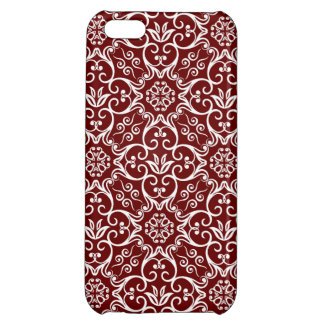 Red Damask iPhone Cases