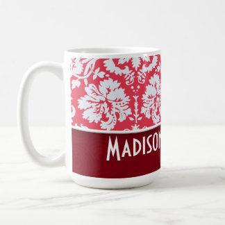 Red Damask Pattern Cute Mugs