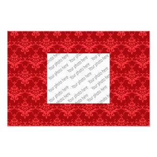 Red damask pattern art photo