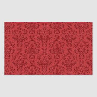 Red Damask Pattern Stickers