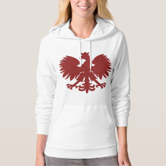 Red Damask Polish Eagle Hoodie