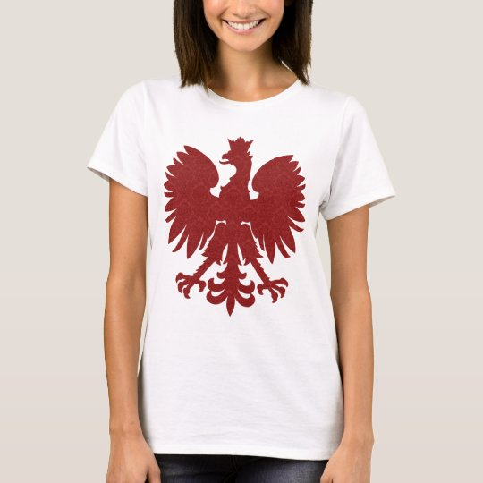 Red Damask Polish Eagle T-Shirt