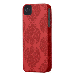 Red damask stylish pattern iphone 4 casemate case