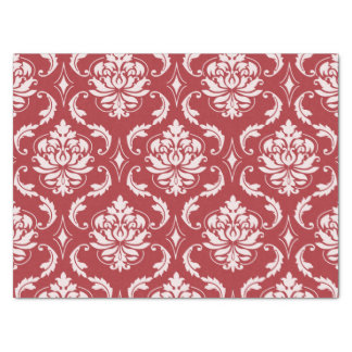 Red Damask Vintage Pattern Tissue Paper