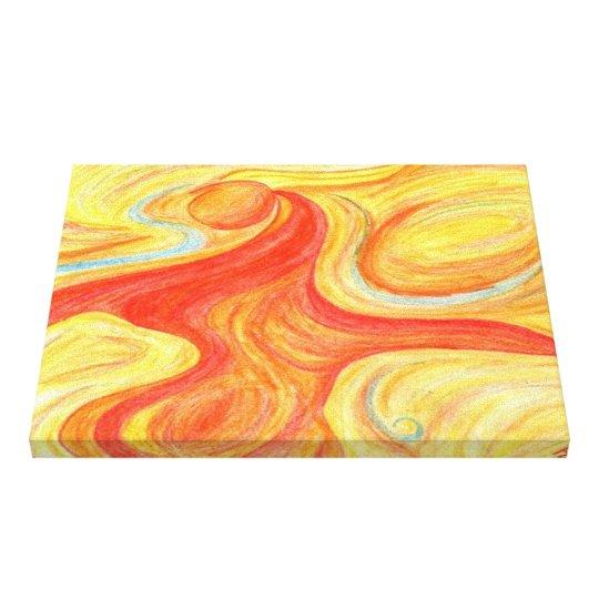 red dancer abstract art slim depth canvas