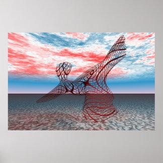 Red Dancer - Large Print