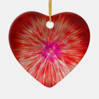 Red Dandelion Extrusion Christmas Ornament