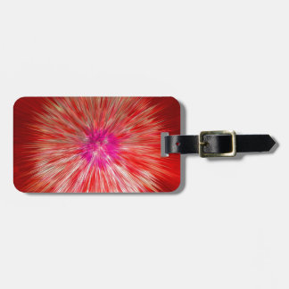 Red Dandelion Extrusion Luggage Tag