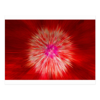 Red Dandelion Extrusion Postcard