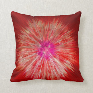 Red Dandelion Throw Pillow