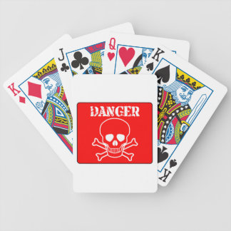 Red Danger Sign Bicycle Playing Cards