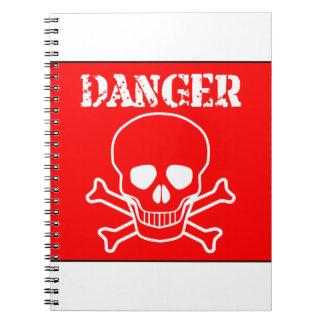 Red Danger Sign Notebooks