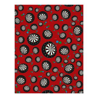 Red dartboard pattern flyer design