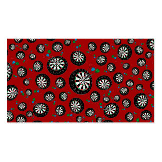 Red dartboard pattern pack of standard business cards
