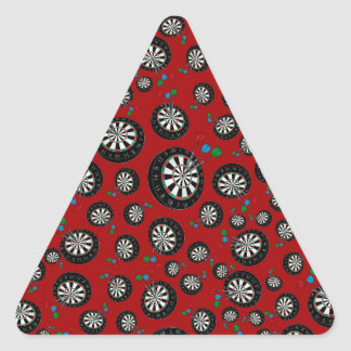 Red dartboard pattern stickers