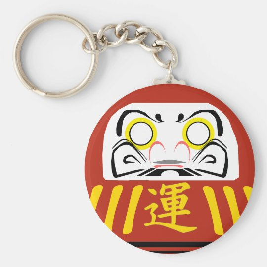 RED Daruma keychain is for your GOOD FORTUNE