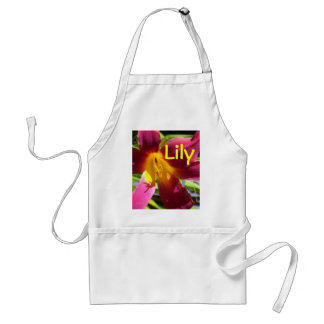 """Red Day Lily"" Apron"
