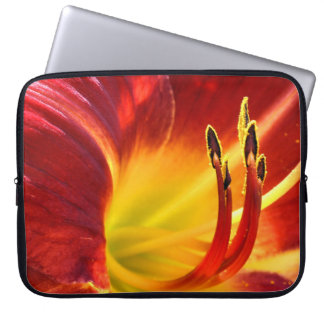 Red Day Lily Computer Sleeve