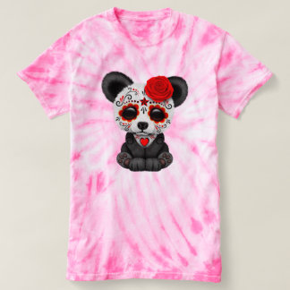 Red Day of the Dead Panda Cub T-Shirt