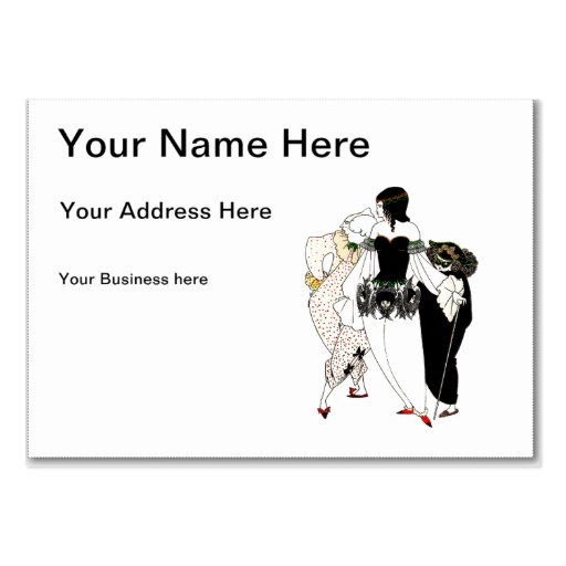 Red Death Masque Illustration Business Card Template
