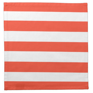 Red Deckchair Stripes Napkin