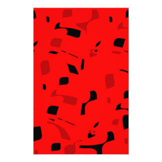 Red decorative spots personalized stationery