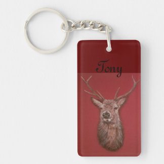 Red Deer Buck Stag Key Chain