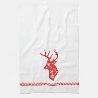 Red Deer Christmas Towel
