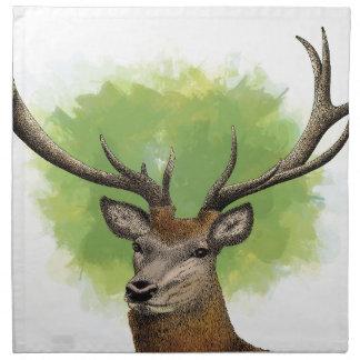 Red Deer Napkin