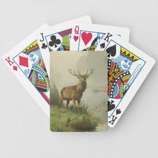 Red Deer painting Poker Deck