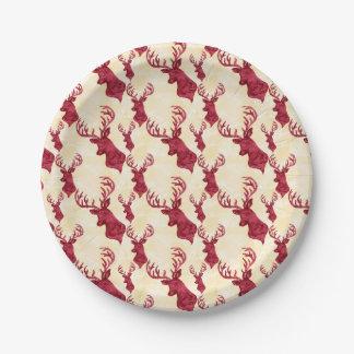 Red Deer Paper Plate