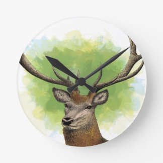 Red Deer Round Clock