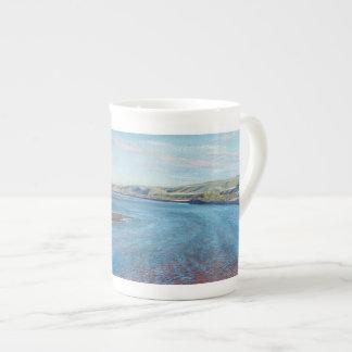 Red Deer Sandbars - bone china mug