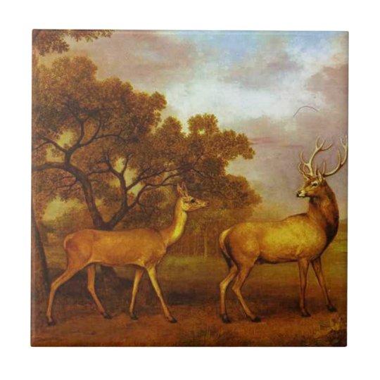 Red Deer Stag and Hind by George Stubbs